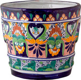Mexican Pottery Flower Pot talavera pot 05-02
