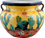 talavera pottery: mexican flower pot mexican flower pot 0-17