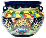 talavera pottery: mexican flower pot mexican flower pot 0-16