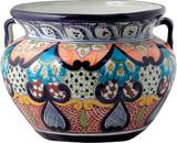 talavera pottery: mexican flower pot mexican flower pot 0-15
