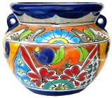talavera pottery: mexican flower pot mexican flower pot 0-13