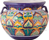 talavera pottery: mexican flower pot mexican flower pot 0-12