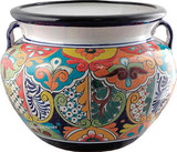 talavera pottery: mexican flower pot mexican flower pot 0-07