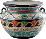 talavera pottery: mexican flower pot mexican flower pot 0-06