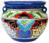 talavera pottery: mexican flower pot mexican flower pot 0-05
