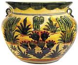 talavera pottery: mexican flower pot mexican flower pot 0-03