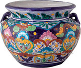 talavera pottery: mexican flower pot mexican flower pot 0-02