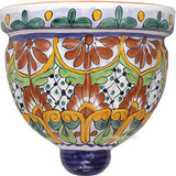 Talavera Pottery: Mexican Wall Sconce mexican sconce 0-17