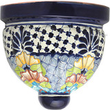 Talavera Pottery: Mexican Wall Sconce mexican sconce 0-16
