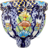 Talavera Pottery: Mexican Wall Sconce mexican sconce 0-13