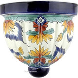 Talavera Pottery: Mexican Wall Sconce mexican sconce 0-08
