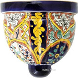rustic talavera sconce brown green