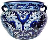 talavera pottery: mexican flower pot