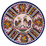hand crafted talavera plate brown yellow