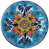 clay talavera plate blue green