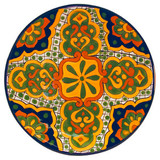 Hand Painted Talavera: Mexican Plate talavera plate24