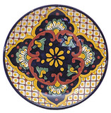 hacienda talavera plate yellow brown