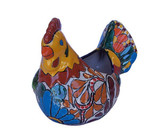 mexican talavera: hand painted hen pot