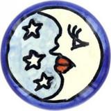 sky blue white ceramic pull knob
