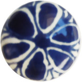 light blue white ceramic pull knob