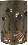 Spanish tin wall lamp