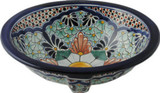hand painted talavera sink
