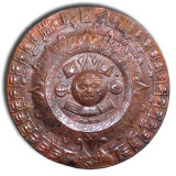 small aztec copper calendar wall plaque
