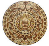 large aztec wooden calendar wall plaque table-top