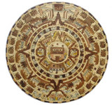 small aztec wooden calendar