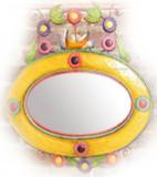colored tin mirror