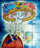 the catrina wall tile mural
