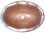 oval hacienda  copper bathroom sink