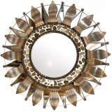 folk art tin mirror