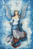 Angel bathroom wall tile mural
