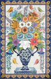 wonderful garden tile mural
