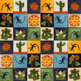 100 Mexican folk art tiles