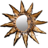 sun moon tin mirror