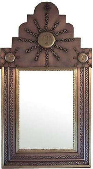 antique tin mirror