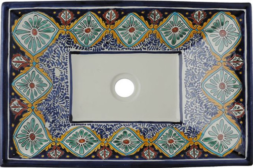 rectangular talavera vessel sink spanish, Bathroom decor