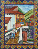 southeastern kitchen wall tile mural