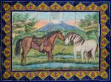 mexican kitchen bath tile mural