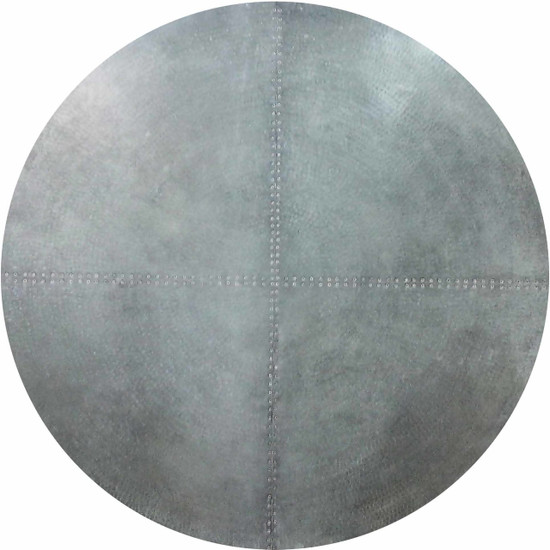 round zinc table-top
