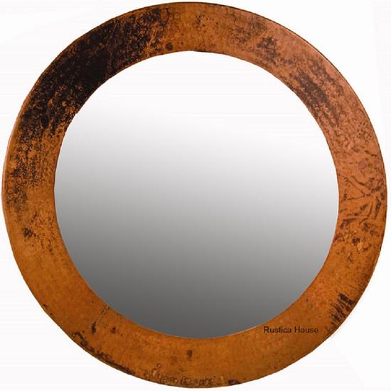produced round copper mirror