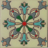 gothic relief tile gray