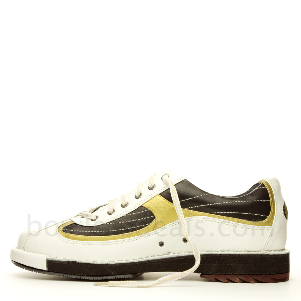 Dexter SST 8 Mens Bowling Shoes White/Black/Gold  side view alternate