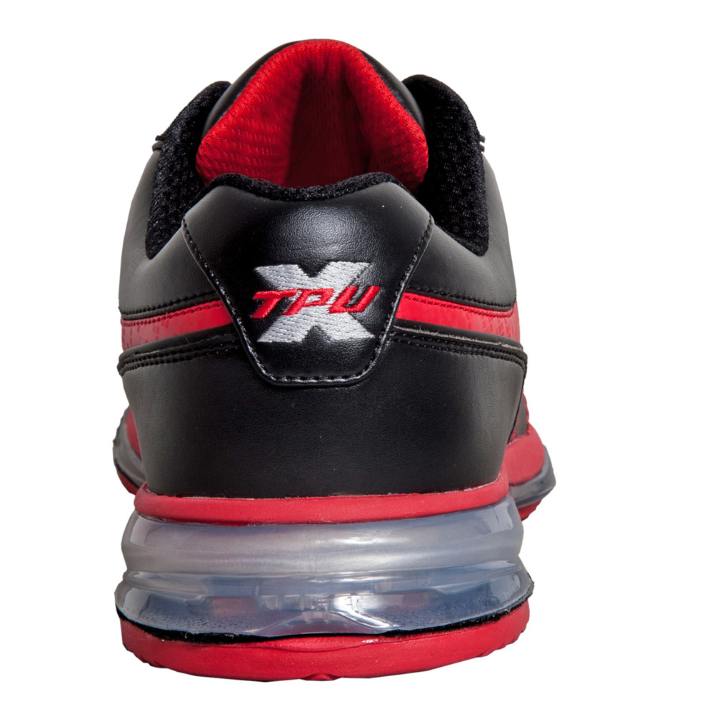 Brunswick TPU X Mens Bowling Shoes Black Red Right Hand  rear view