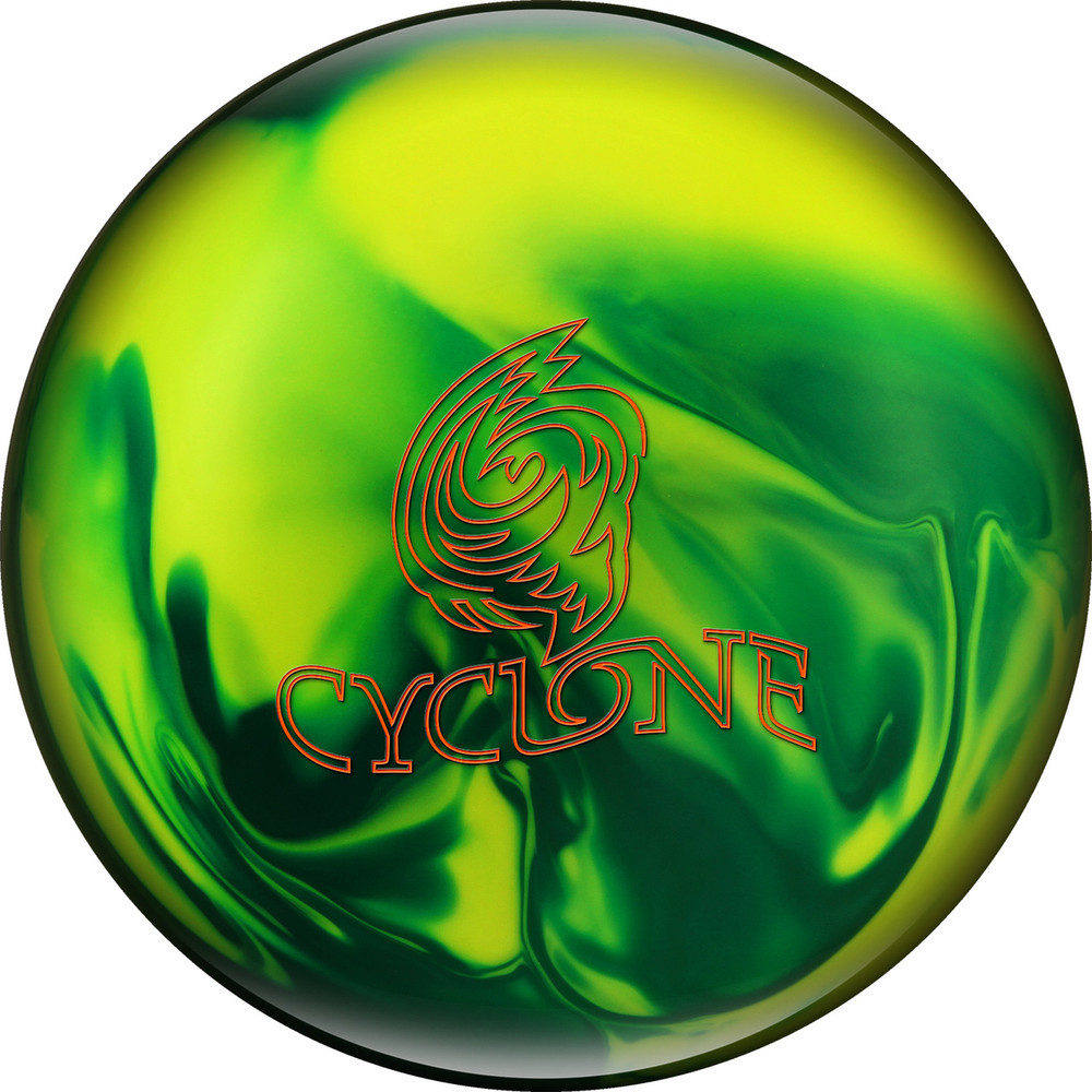 Ebonite Cyclone Bowling Ball Green Yellow Pearl