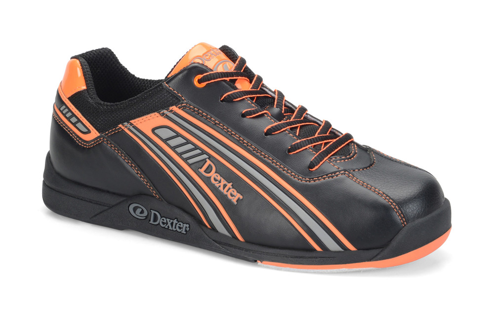 Dexter Keith Mens Bowling Shoes Black/Orange side view