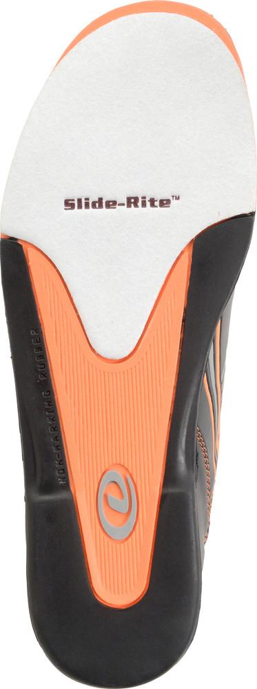 Dexter Keith Mens Bowling Shoes Black/Orange bottom view