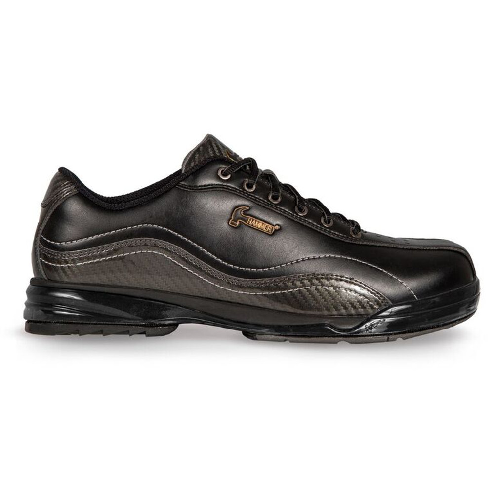 Hammer Force Mens Bowling Shoes Black Carbon Right Hand Wide Width